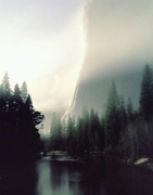 Moonset, Fog, El Capitan, Merced River (Edition 9)S