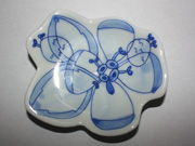 flower-patterned wall plate(A-1)