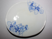 flower-patterned oval plate(D-1)