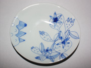 flower-patterned oval plate(E-1)