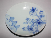 flower-patterned oval plate(E-2)