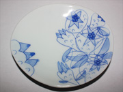 flower-patterned oval plate(E-3)