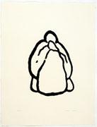 宮嶋葉一 版画作品 「鶏肉」