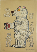 Bear (white/Standing/Side)「Marmaid」