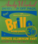 Exhibition poster for Andy Warhol: Pasadena Art Museum (Brillo)