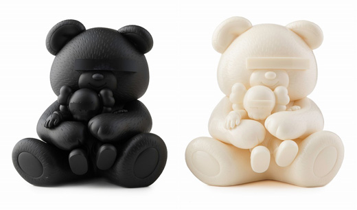 Undercover Bear KAWS Companion (Black & White)
