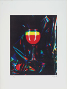 Very Popular Story. Event for Prints. Rainbow glass. Then, Mr. Ay-o got drunk by the Rainbow. 6