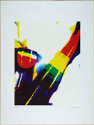 Very Popular Story. Event for Prints. Rainbow glass. Then, Mr. Ay-o got drunk by the Rainbow. 36