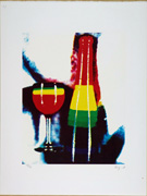 Very Popular Story. Event for Prints. Rainbow glass. Then, Mr. Ay-o got drunk by the Rainbow. 37