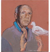 Picasso with a dove