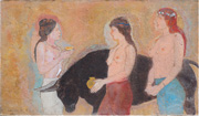 A study of Three Greek Women and a Bull