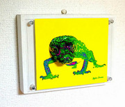 3D pictures Green Lizard