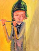 Flautist with Green Hat