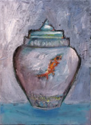 Vase with a Red Fish