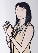 Hijiri with hands together (from Twenty six Portraits)