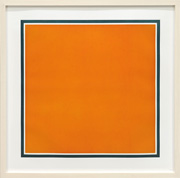 A square with colors superimposed within a Border, Colors superimposed [Orange]