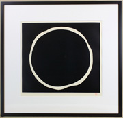 White circle in Black