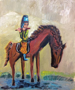 Flautist on the Horse in Tang Dynasty