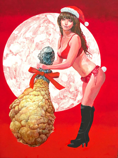 X'mas chicken woman