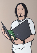 Hirofumi with file (from Twenty six Portraits)