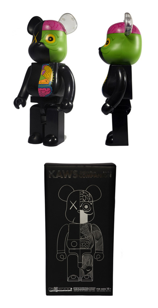 Companion Black Dissected 1000% Bearbrick