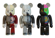 Companion Dissected 100% Bearbrick (3点セット)
