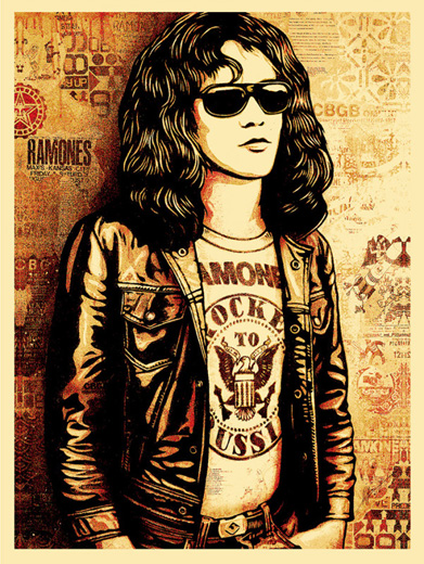 Tommy Ramone Collage (Red)