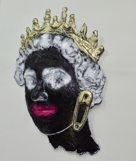 QUEEN (SAFETY-PIN/Black)